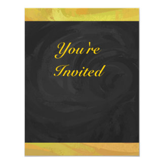 Pineapple and Black Party 11 Cm X 14 Cm Invitation Card