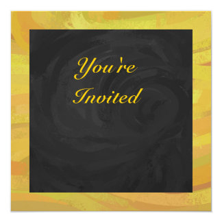 Pineapple and Black Party 13 Cm X 13 Cm Square Invitation Card