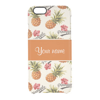 Pineapple and Hibiscus Clear iPhone 6/6S Case