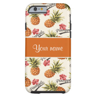 Pineapple and Hibiscus Tough iPhone 6 Case