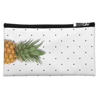 Pineapple and Polka Dots Cosmetic Bag
