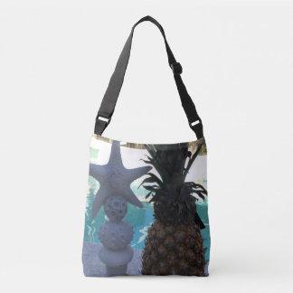 Pineapple and Starfish Crossbody Bag
