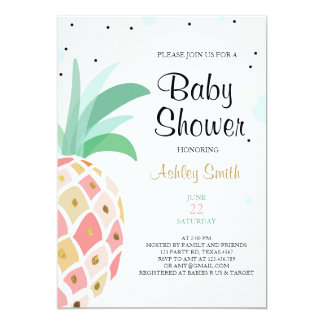 Pineapple Baby shower invitation Tropical Bridal