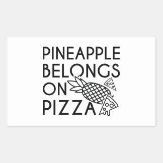 Pineapple Belongs On Pizza Rectangular Sticker