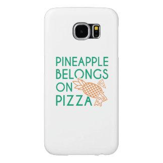 Pineapple Belongs On Pizza Samsung Galaxy S6 Cases