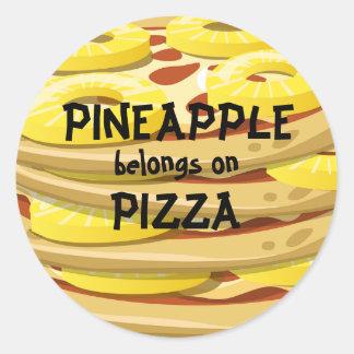 Pineapple belongs on Pizza Stickers