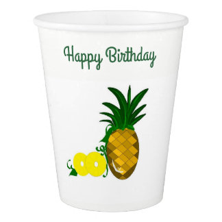 Pineapple Birthday Delight Paper Cup