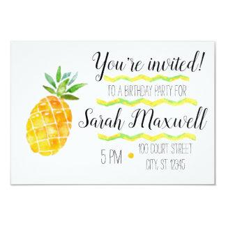 Pineapple Birthday Party Invitation