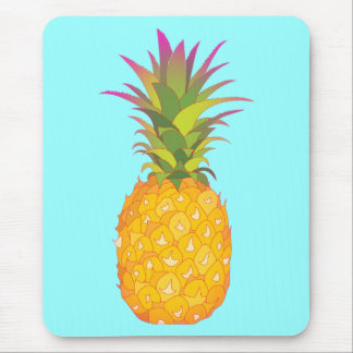 Pineapple - Blue Tropical Mousepad