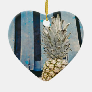Pineapple By The Beach Ceramic Ornament