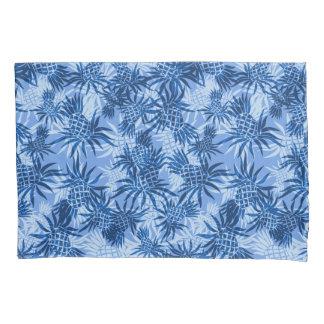Pineapple Camo Hawaiian Tropical - Blue Pillowcase