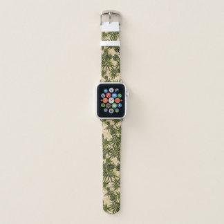 Pineapple Camo Hawaiian Tropical - Khaki Apple Watch Band