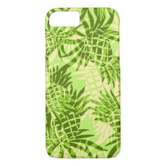 Pineapple Camo Hawaiian Tropical - Lime iPhone 8/7 Case