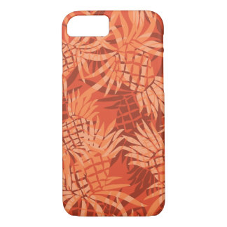 Pineapple Camo Hawaiian Tropical - Orange iPhone 8/7 Case
