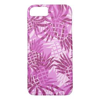 Pineapple Camo Hawaiian Tropical - Pink iPhone 8/7 Case