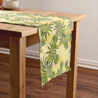 Pineapple Camo Hawaiian Tropical Short Table Runner