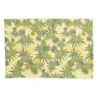 Pineapple Camo Hawaiian Tropical - Yellow Olive Pillowcase