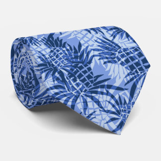 Pineapple Camo Hawaiian Two-sided Printed Tie