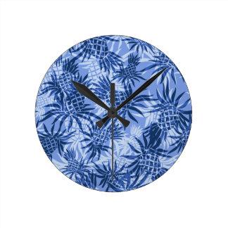 Pineapple Camo Hawaiian Wall Clocks
