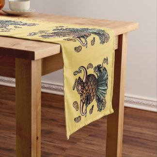 Pineapple chef making pancakes short table runner