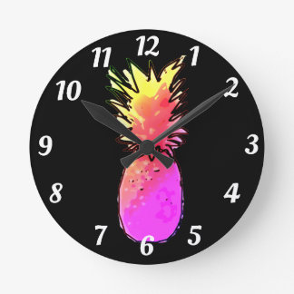 Pineapple clock Acrylic
