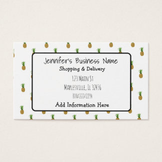 Pineapple Cutesy Tropical Business Card