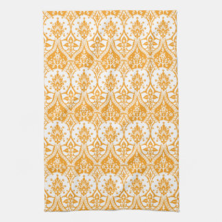 Pineapple Damask Orange Tea Towel
