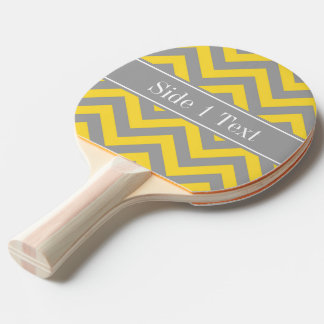 Pineapple Dk Gray LG Chevron Dk Gray Name Monogram Ping Pong Paddle