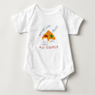 Pineapple does not go on Pizza baby wear Baby Bodysuit
