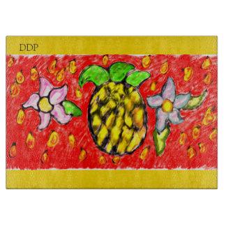 pineapple flowers cutting board
