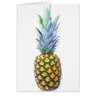 Pineapple Fruit Beach Dessert Colorful Tropical Greeting Card