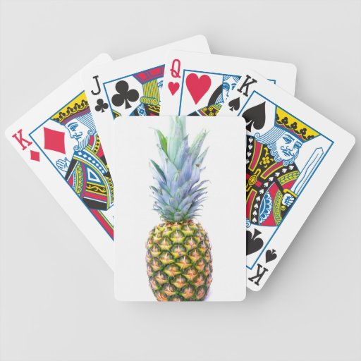 Pineapple Fruit Beach Dessert Colorful Tropical Bicycle Playing Cards