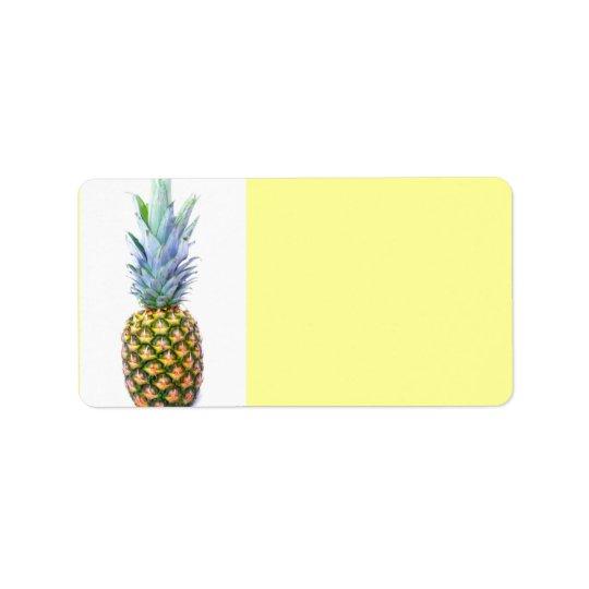 Pineapple Fruit Beach Dessert Colourful Tropical Address Label