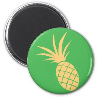 Pineapple Fruit Icon 6 Cm Round Magnet