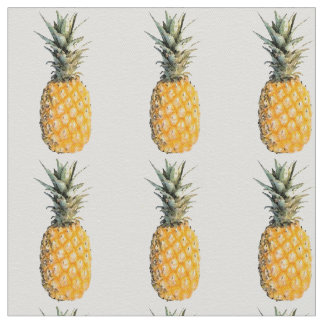 pineapple fruit pattern fabric