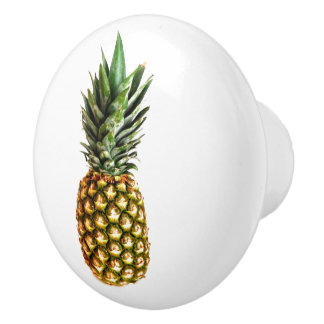 Pineapple fruit photo door and drawer pull knobs