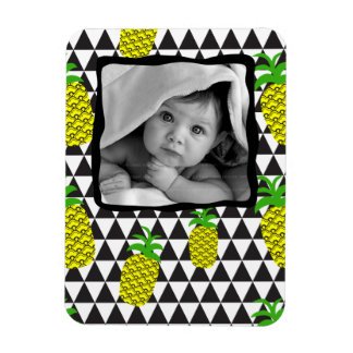 Pineapple Fruit Triangle Baby Photo Template Magnet