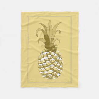 Pineapple Gold ID239 Fleece Blanket