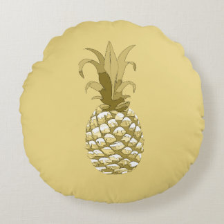 Pineapple Gold ID239 Round Cushion