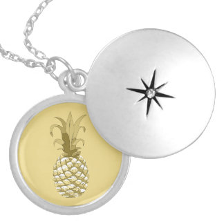 Pineapple Gold ID239 Silver Plated Necklace