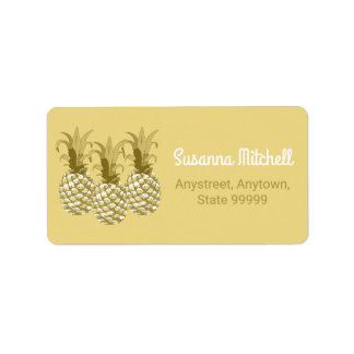 Pineapple Gold Row ID239 Label