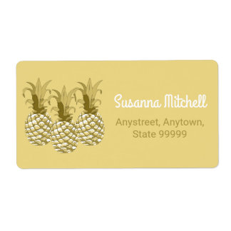 Pineapple Gold Row ID239 Shipping Label