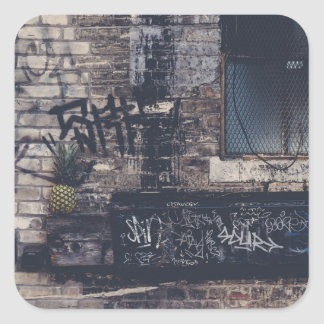Pineapple Graffiti... Square Sticker