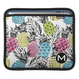 Pineapple Grunge Palms | Monogram iPad Sleeve