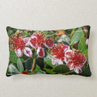 Pineapple Guava / Guavasteen Flowers Lumbar Pillow