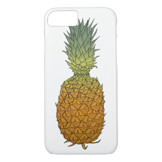 Pineapple hand drawn colored ink sketch iPhone 8/7 case