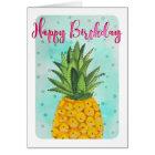 Pineapple Happy Birthday | Greeting Card