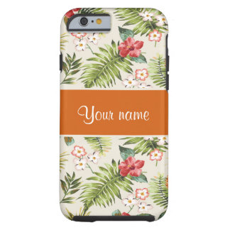 Pineapple Hibiscus and Palm Fronds Tough iPhone 6 Case