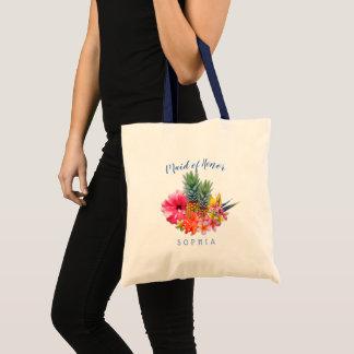 Pineapple Hibiscus Hawaiian Maid of Honor Bag