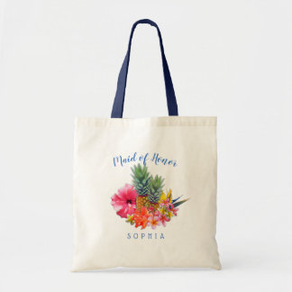 Pineapple Hibiscus Hawaiian Maid of Honor Bag